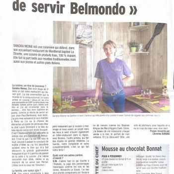 """Je rêvais de servir Belmondo"""